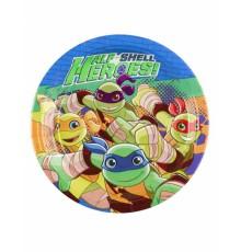 8 Petites assiettes en carton Tortues Ninja 18 cm