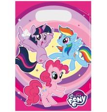 Lot de 8 Sacs cadeaux My Little Pony 23 x 16,5 cm