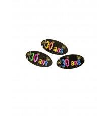80 confettis anniversaire feux d'artifice 4 x 2 cm