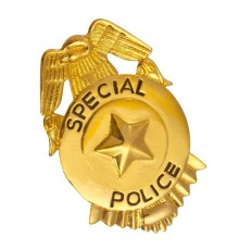 Badge de police doré