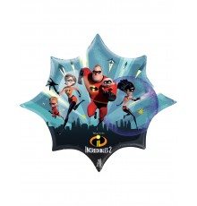 Ballon étoile aluminium Les Indestructibles 88 X 73 cm