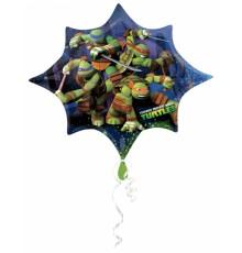 Ballon étoile aluminium Tortues Ninja 88 X 73 cm
