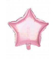Ballon aluminium étoile rose pastel 40 cm