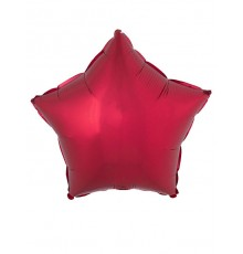 Ballon aluminium étoile rouge 53 x 46 cm