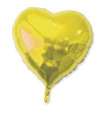 Ballon aluminium c?ur doré 23 cm