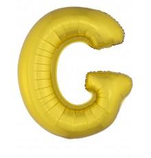 Ballon aluminium géant lettre doré 1m