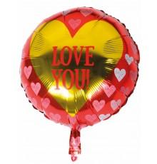 Ballon aluminium Love you 45 cm