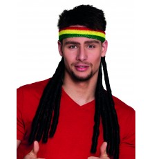 Bandeau rasta avec dreadlocks adulte