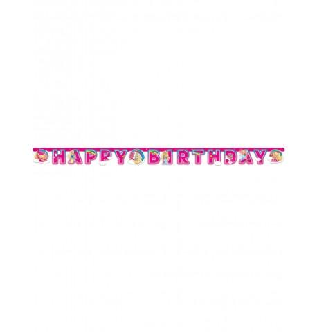 Bannière en papier Happy Birthday Barbie Dreamtopia 15 cm x 2 m