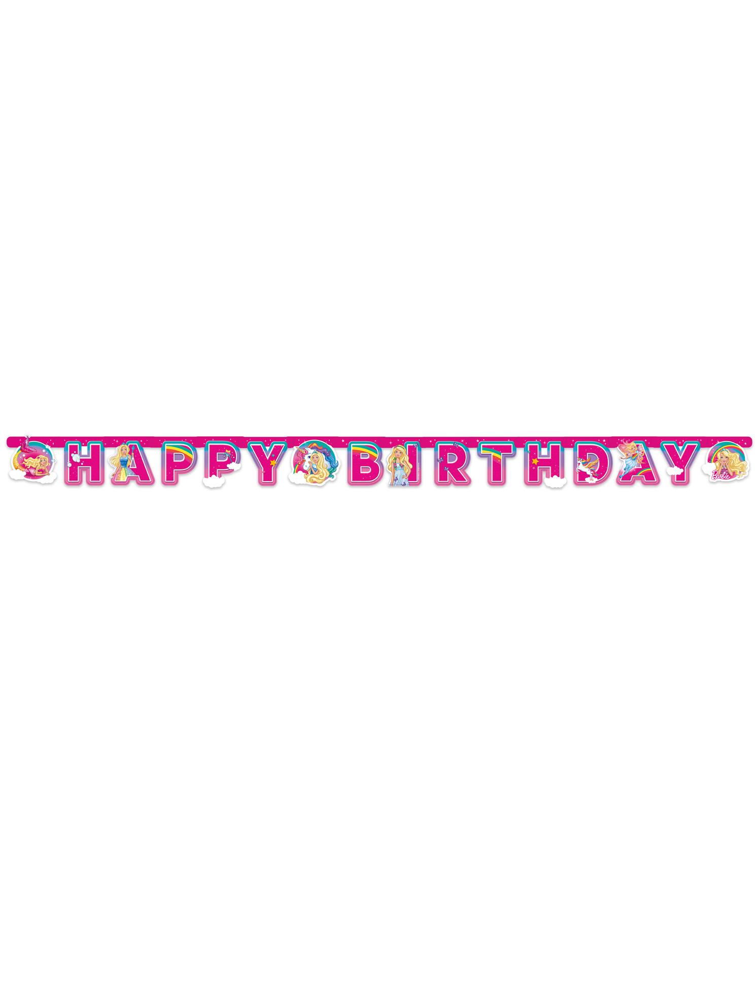 Bannière Happy Birthday Barbie Dreamtopia