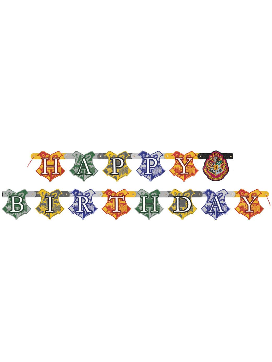 Bannière Happy Birthday Harry Potter en Carton