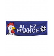 Bannière supporter Allez France 74 X 220 cm