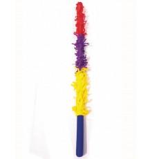 Baton piñata multicolore plastique rigide 50 cm