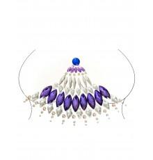 Bijoux pour corps adhésifs violets adulte