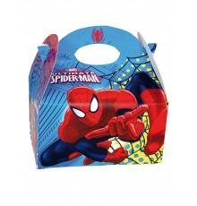Boîte en carton Spiderman 16 x 10,5 x 16 cm