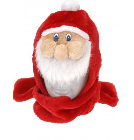 Bonnet avec écharpe Père Noël adulte