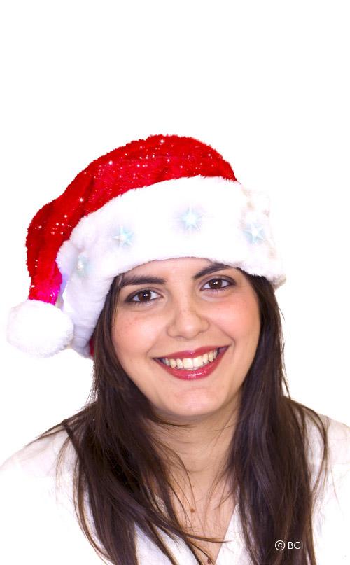Bonnet de Noël avec étoiles lumineuses