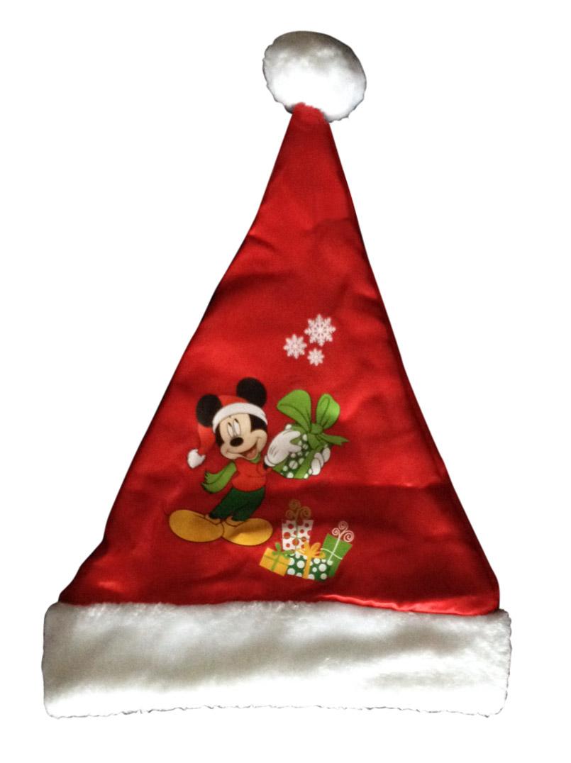 Bonnet de Noël en Polyester à Motif Mickey