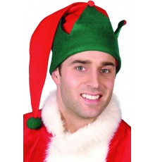 Bonnet elfe Noël avec pompon adulte