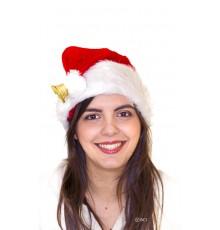 Bonnet de Noël luxe avec clochette dorée