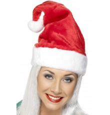 Bonnet de Noël velouteux pour adulte