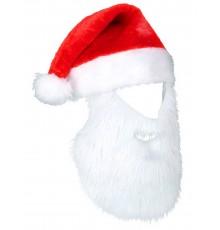 Bonnet Père Noël avec Barbe en Polyester