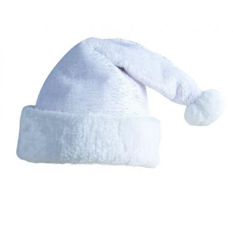 Bonnet Père Noël blanc adulte