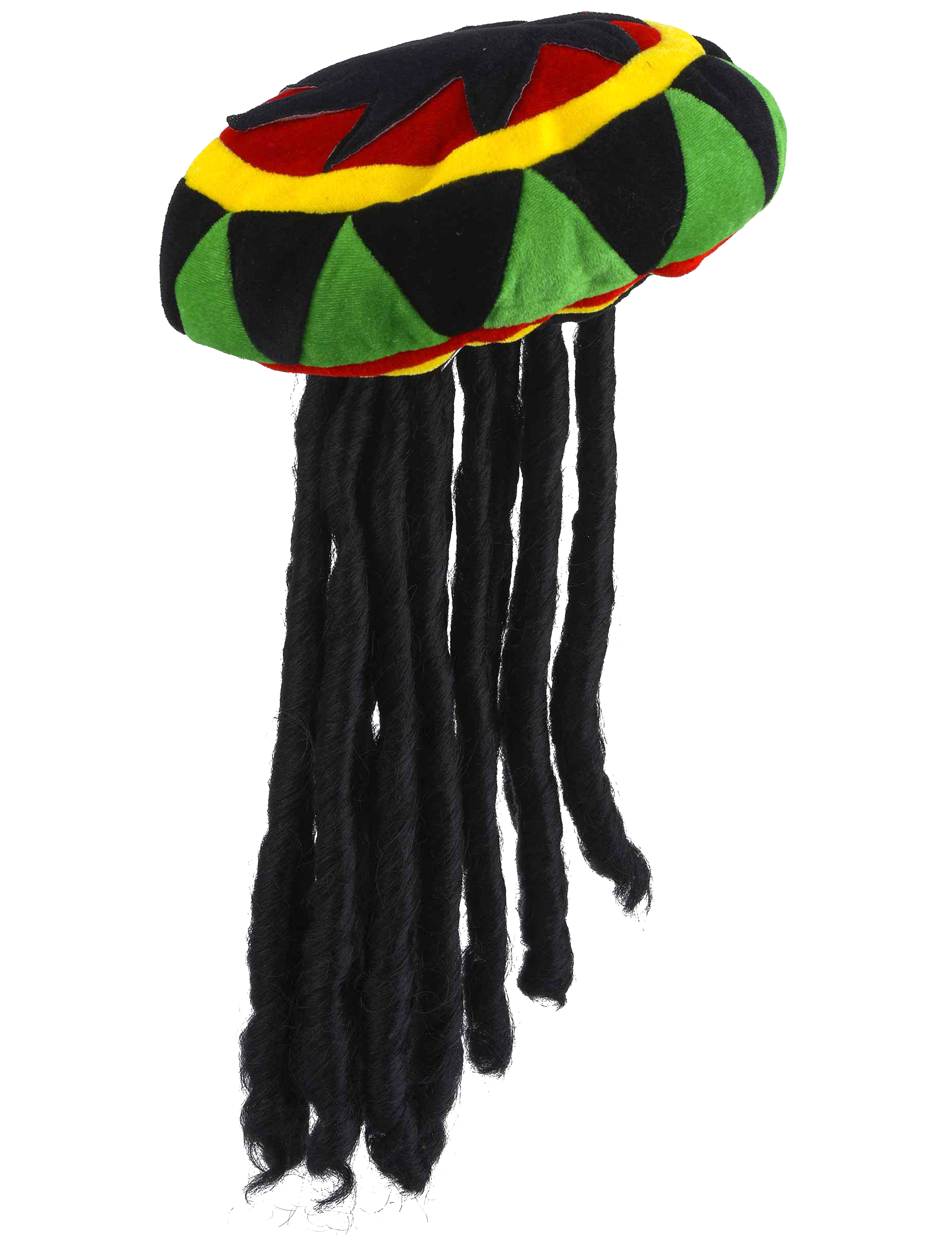 Bonnet rastafari avec dreadlocks mi-longs