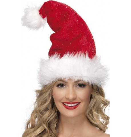 Bonnet rouge scintillant adulte Noël