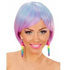 Paire de Boucles d'oreilles Multicolores en forme de Cônes
