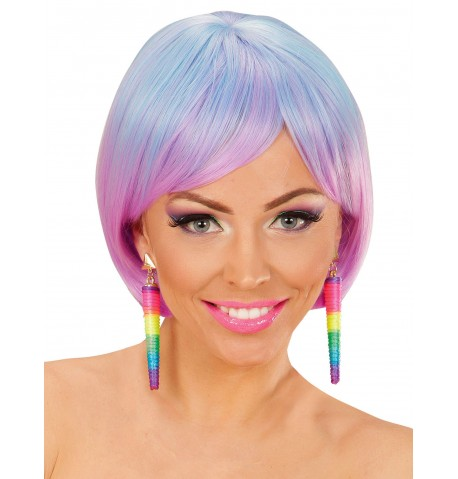 Boucles d'oreilles cones multicolores femme