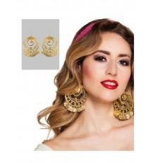 Boucles d'oreilles rondes de danseuse orientale