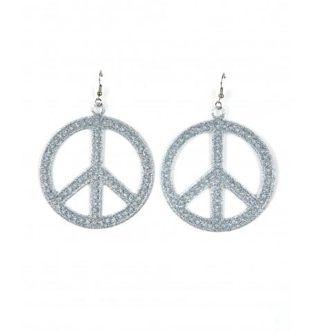 Boucles d'oreilles hippie argentées