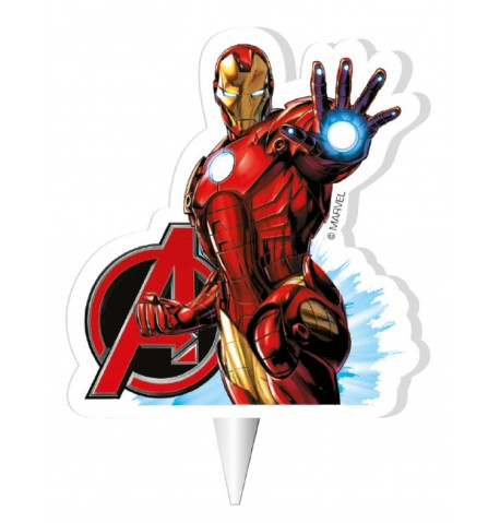 Bougie anniversaire Iron Man Avengers