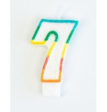 Bougie d'anniversaire chiffre 7 7,5 cm