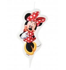 Bougie d'anniversaire Minnie 5,5 x 9 cm