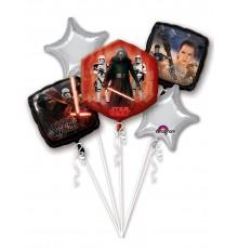 Bouquet de ballons en aluminium Star Wars VII