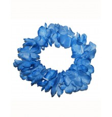 Bracelet de Fleurs Bleues en Tissu