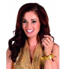 Bracelet à piécettes dorées pour femme