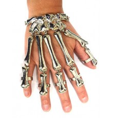 Bracelet et Bagues Squelette en Métal