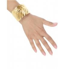 Bracelet Feuilles en Métal Doré