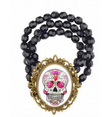 Bracelet Dia de Los Muertos en Plastique