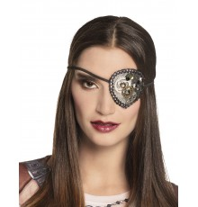 Cache oeil steampunk femme