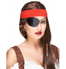 Cache-oeil noir pirate adulte