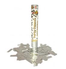 Canon à confettis argentés 30 cm