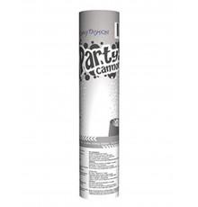 Canon à confettis blancs 20 cm