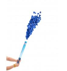 Canon à confettis bleus 60 cm