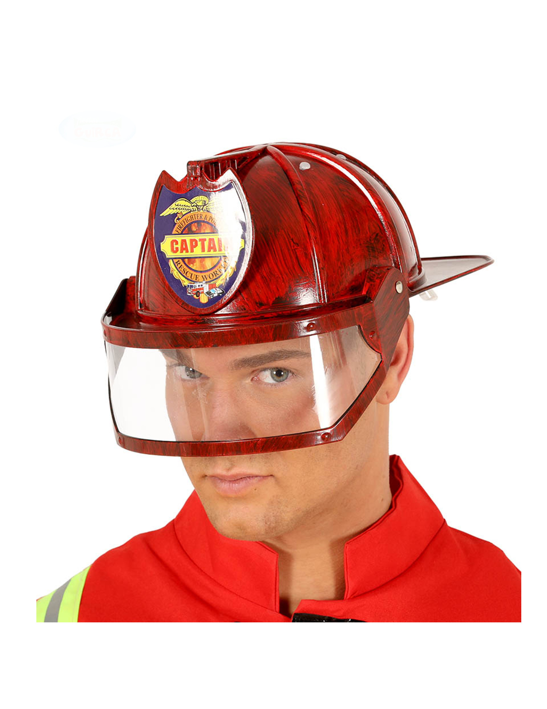 Casque de chef de pompiers pour adulte