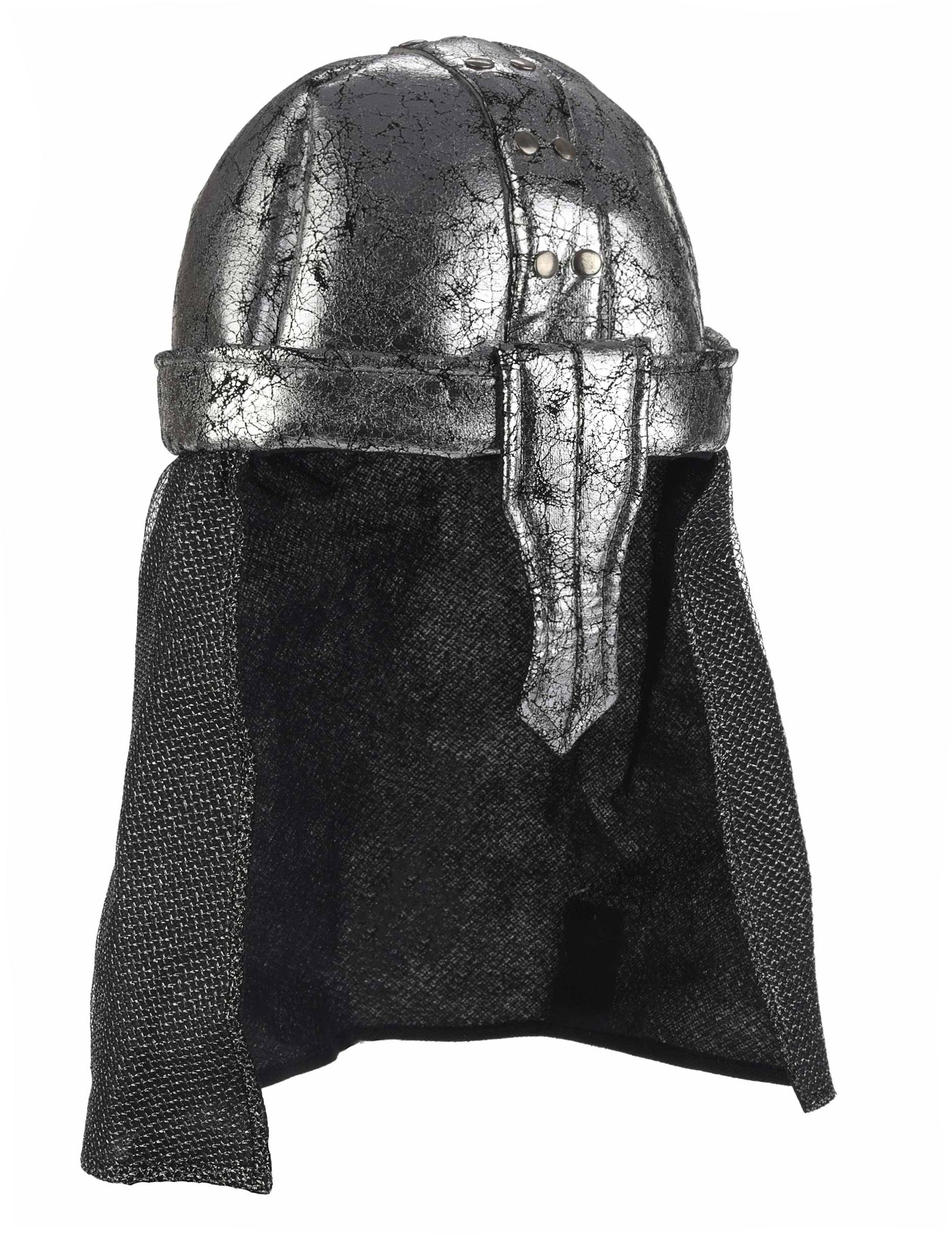 Casque de chevalier pour déguisement guerrier adulte