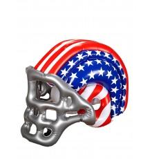 Casque de foot américain gonflable motif drapeau USA